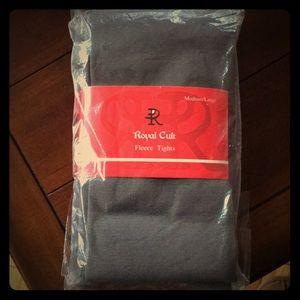 Royal cult fleece tights, new, unopened, grey